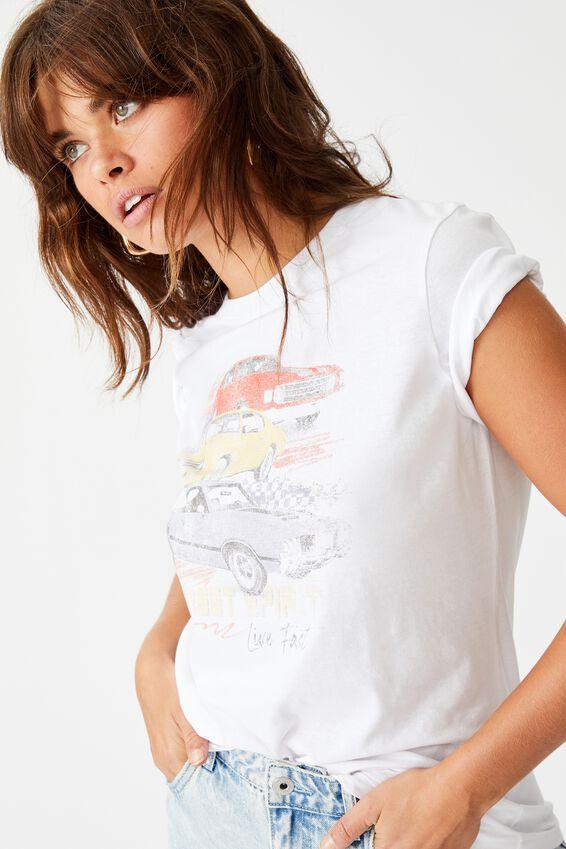 Relaxed Graphic T Shirt, WHITE/STREET SPIRIT