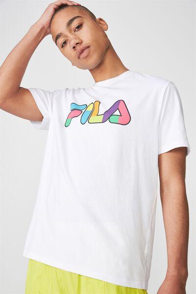 Fila Lcn Logo T Shirt, WHITE