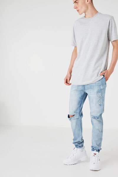 The Denim Jogger, BLUE BLAST WORN