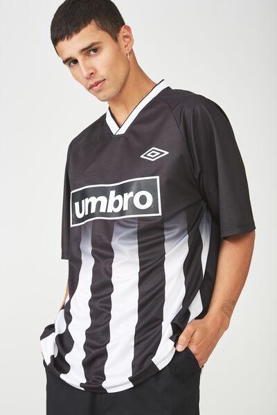 Umbro Lcn Soccer Jersey, BLACK/WHITE STRIPE