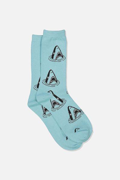 Jersey Sock, BITE ME/BLUE