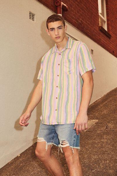 Resort Shirt, STRIPE ALL SORTS