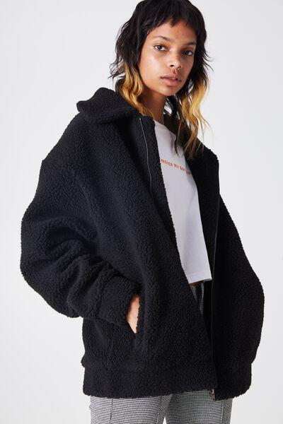 Teddington Coat, BLACK