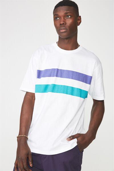 Graphic T Shirt, WHITE/LOS ANGLES STRIPE