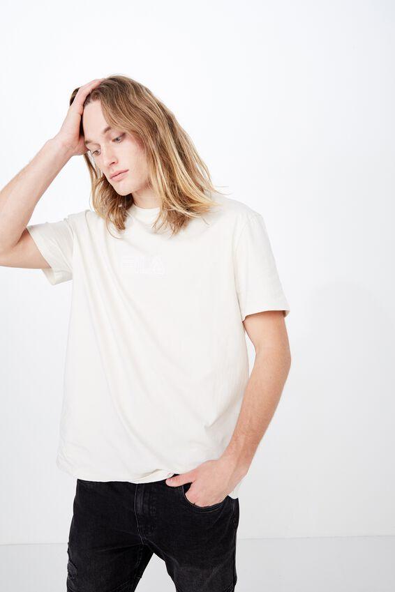 Fila Regular Washed T Shirt, WASHED IVORY
