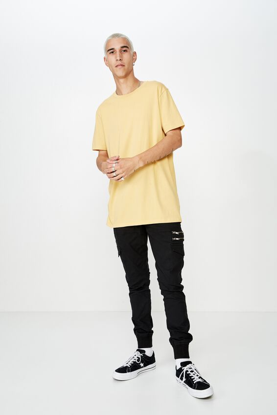Longline T Shirt, NEW WHEAT