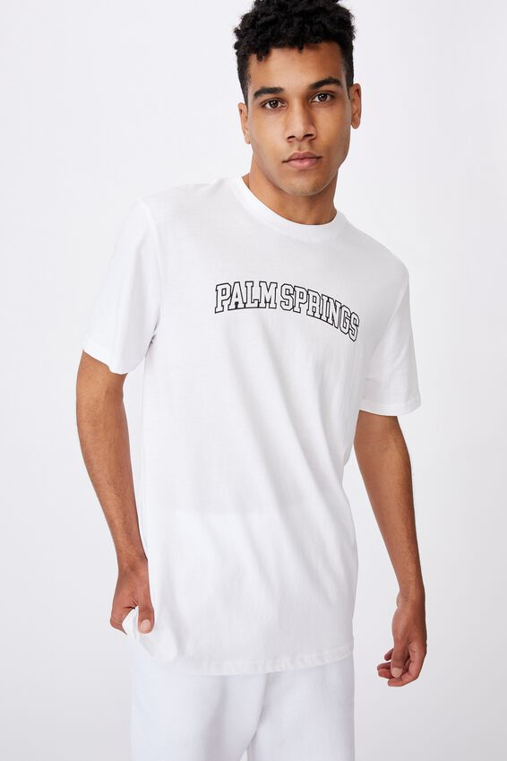 Regular Graphic T Shirt, WHITE/PALM SPRINGS