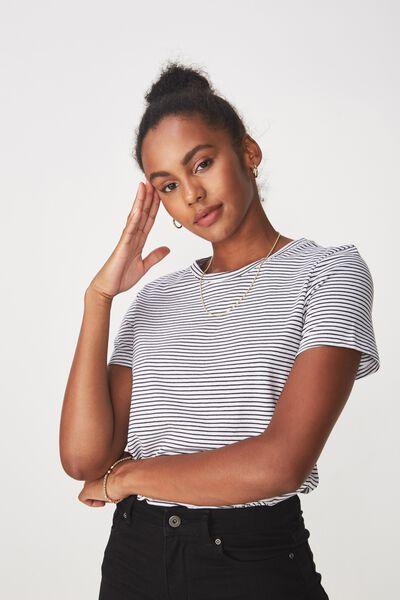 Basic T Shirt Stripe, FRANKIE STRIPE_BLACK/WHITE