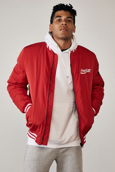 Ma1 Bomber Jacket, LCN COK RED/COKE