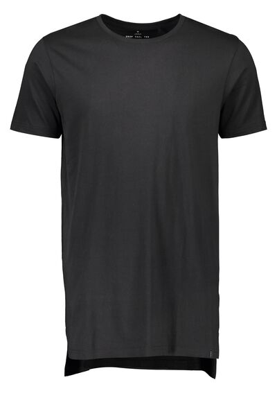 Drop Tail Tee, BLACK