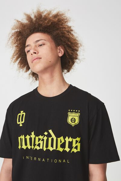 Graphic T Shirt, BLACK/OUTSIDERS