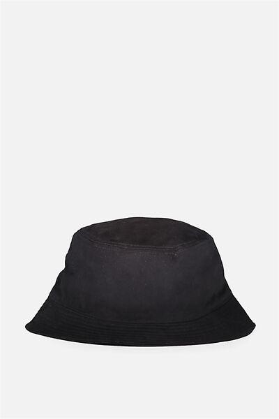 Bucket Hat, BLACK TWILL