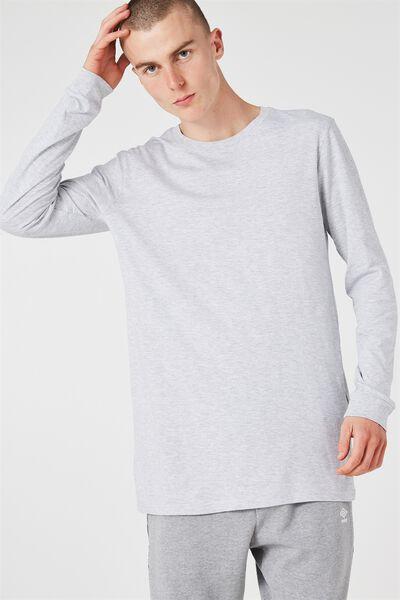 Slim Long Sleeve T Shirt., LIGHT GREY MARLE