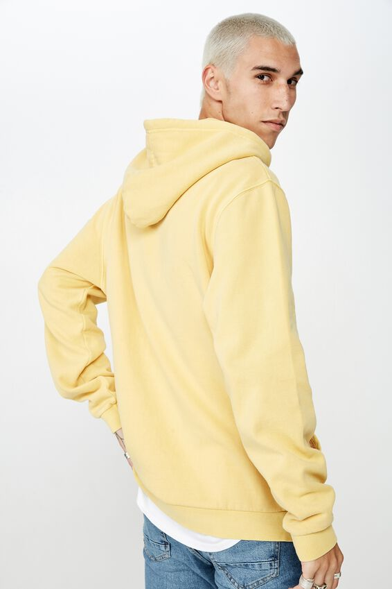 Fila Embroidered Hoodie, WASHED YELLOW