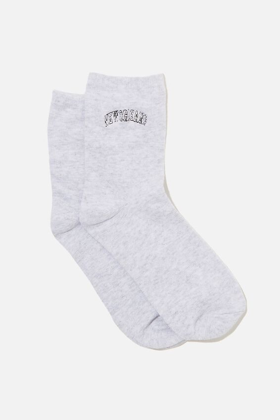 The Original Sock, GREY MARLE/NEW ORLEANS