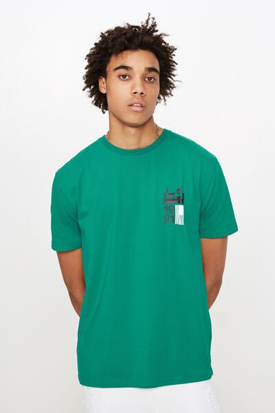 Graphic T Shirt, PEPPER GREEN/LOS ANGELES