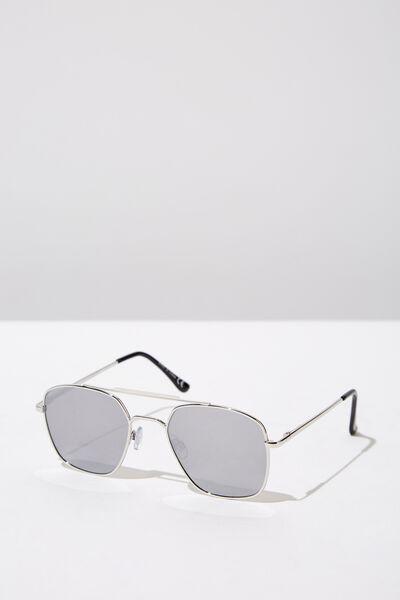Vintage Topbar Sunglasses, SILV_MIRROR