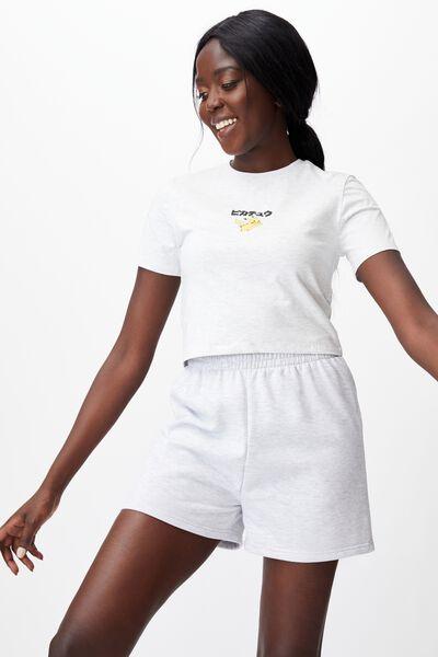 Lcn Fitted Gaming T Shirt, LCN POK SILVER MARLE/PIKACHU