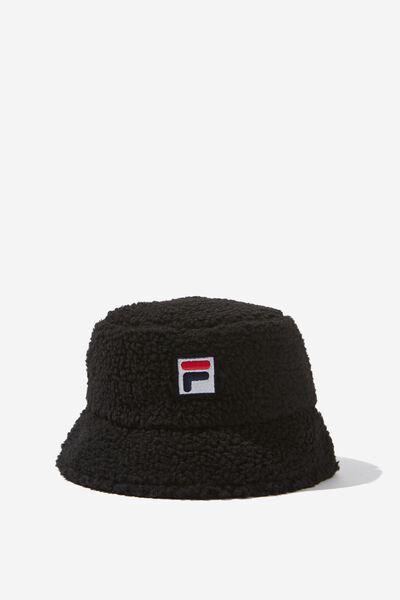 Fila Lcn Teddy Bucket Hat, BLACK