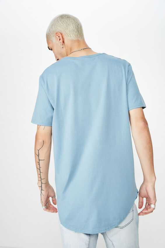 Curved T Shirt, SEA BLUE