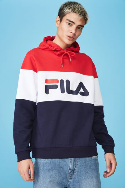 8535482625b6 Fila Lcn Heritage Splice Hoodie, NAVY/WHITE/RED