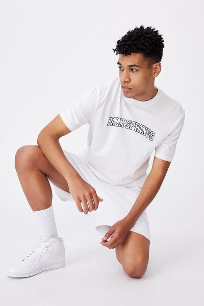 Regular Graphic T Shirt, WHITE/PALM SPRINGS