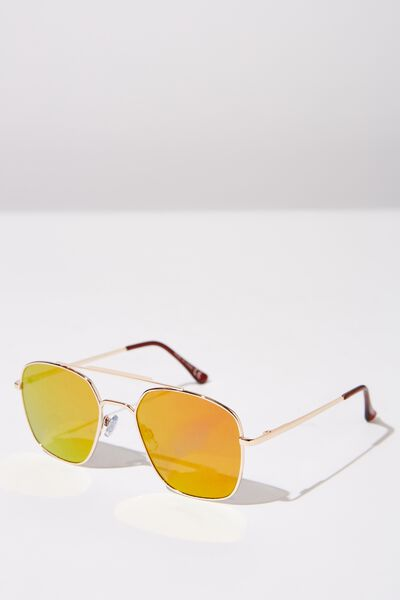 Vintage Topbar Sunnies, GOLD_ORANGE