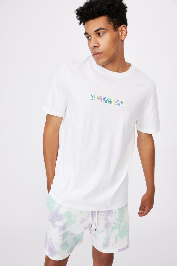 Regular Graphic T Shirt, WHITE/EXPERIMENTAL