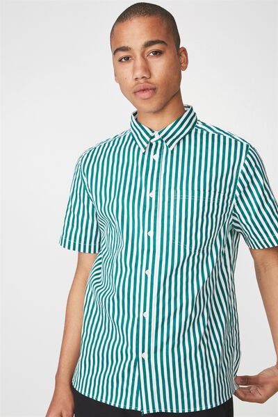 Ss Oversized Shirt, FOLIAGE STRIPE