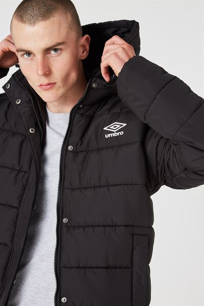 Umbro Puffer Jacket, BLACK