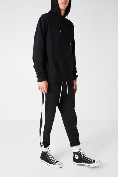 Grad Stripe Trackie, BLACK/WHITE