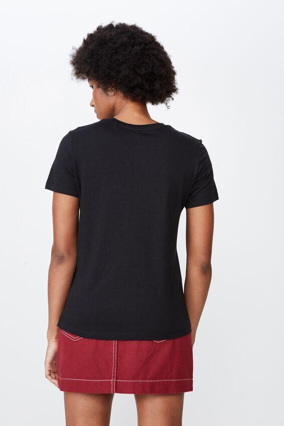 Basic Graphic T Shirt, BLACK_ROSE HEART EMB