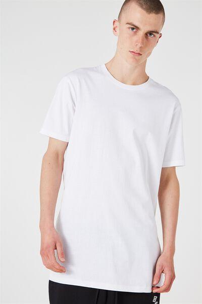 Longline T Shirt, WHITE
