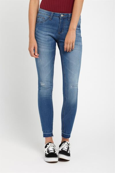 Santiago Jean, WASHED BLUE DESTROYED HEM