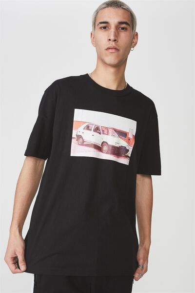 Ss Graphic T Shirt, BLACK/FOUR SPEED