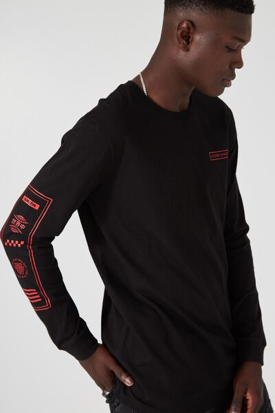 Ls Amped Tall Tee, BLACK/CROSS OUT