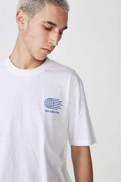 Graphic T Shirt, WHITE/GLOBE CALLER