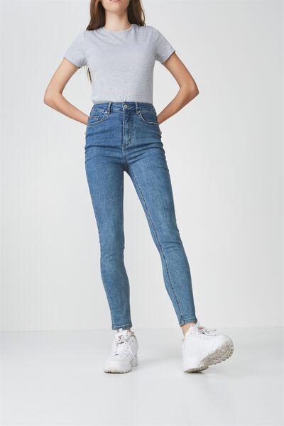High Rise Skinny Jeans, BONDI BLUE