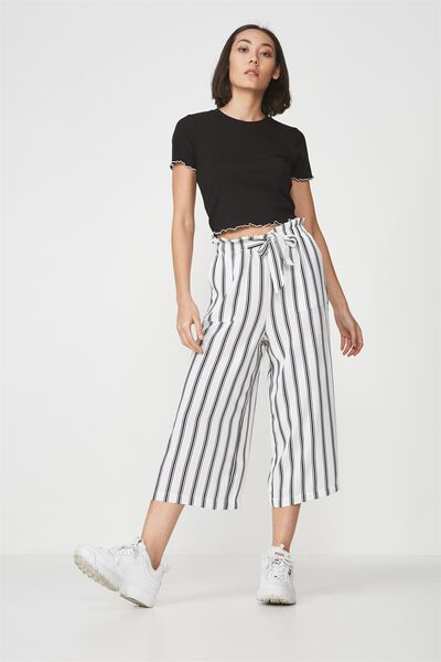 Paperbag Pant, WHITE STRIPE