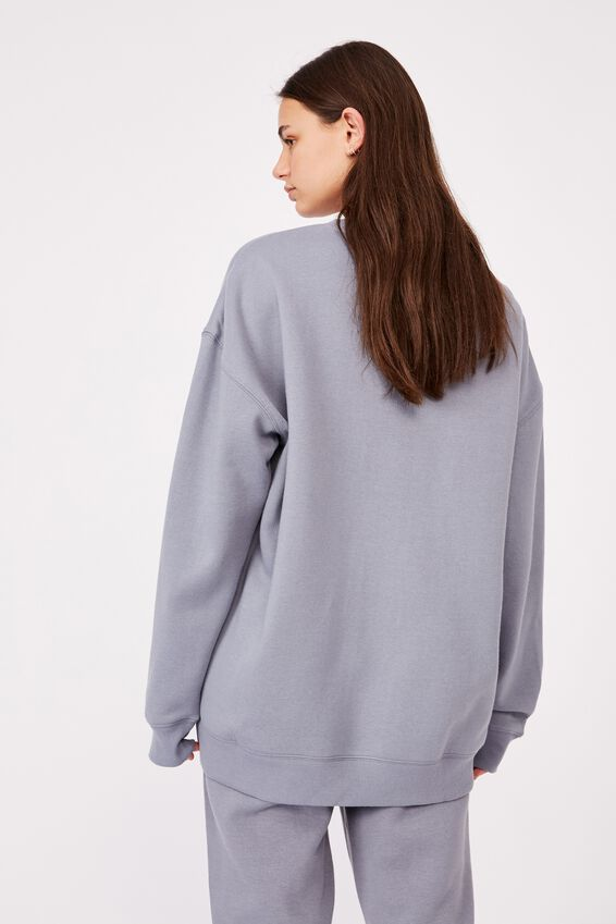 Oversized Crew Neck Sweater, FOG GREY