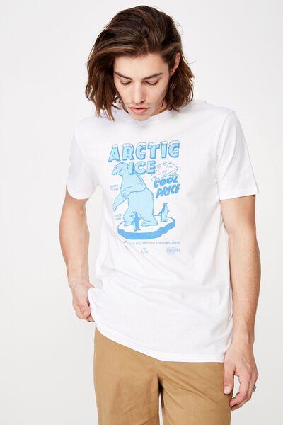 Slim Graphic T Shirt, WHITE/ARCTIC ICE