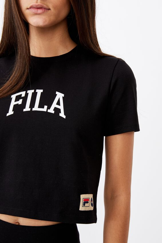 Fila Lcn Fitted Graphic T Shirt, BLACK/WHITE