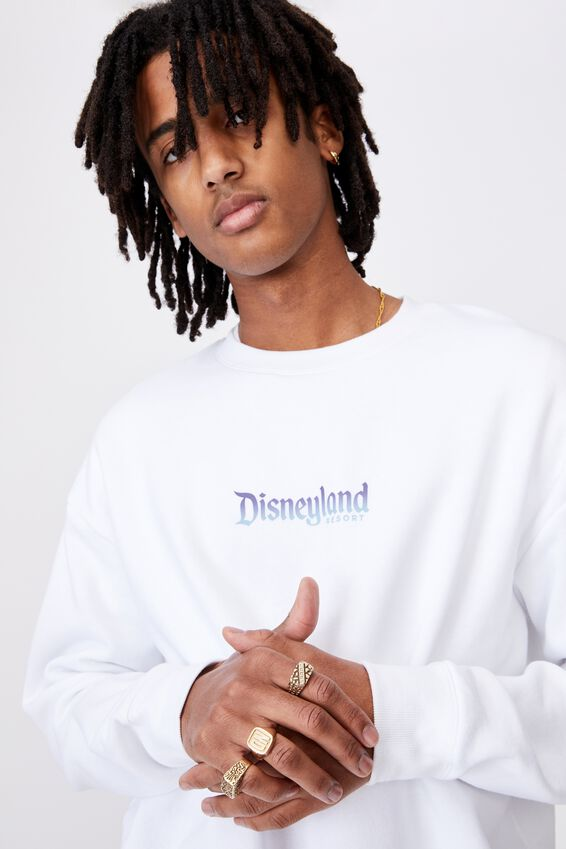 Disney License Crew, LCN DIS WHITE/DISNEYLAND