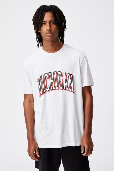 Regular Graphic T Shirt, SILVER MARLE/MICHIGAN