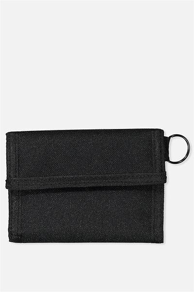 Velcro Wallet, BLACK_BLK