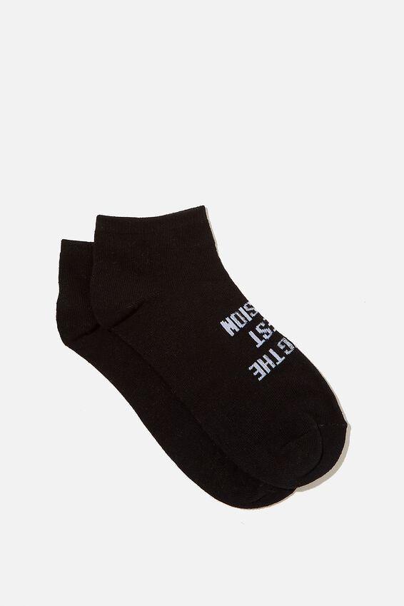 Anklet Original Sock, CAN BE SLOGAN/BLACK