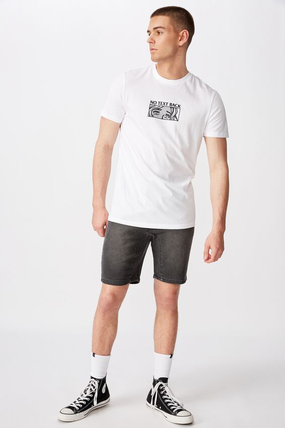 Slim Graphic T Shirt, WHITE/NO TEXT BACK