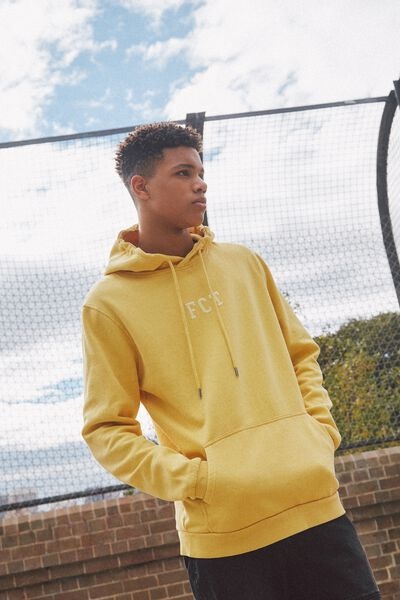 Embroidered Fct Hoodie, WASHED YELLOW