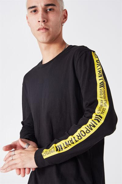 Ls Amped Tall Tee, BLACK/PROTECTIVE