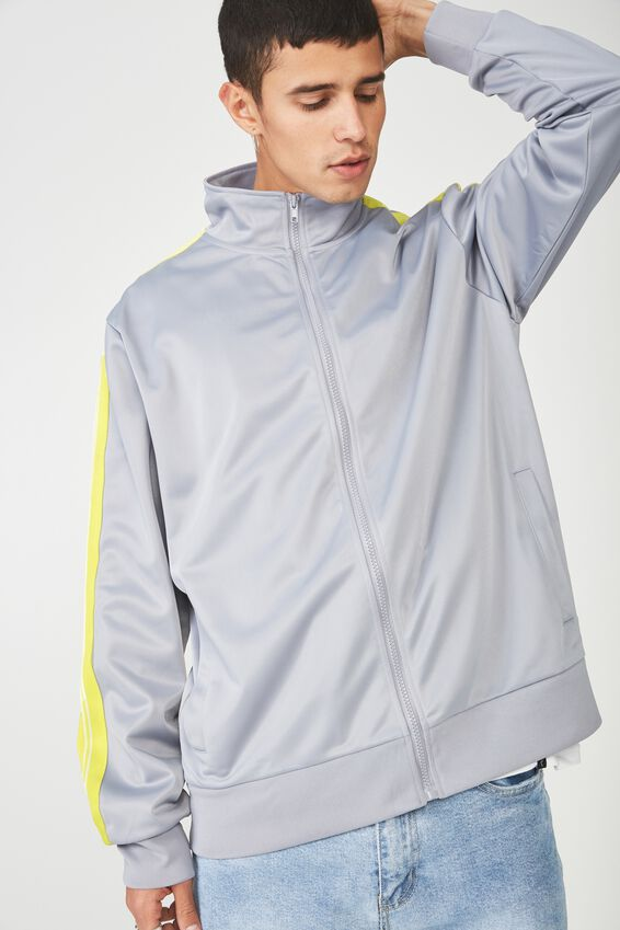 Tricot Zip Through Jacket, GREY/SULPHUR SPRING